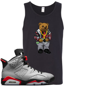 Air Jordan 6 Reflections of a Champion Sneaker Hook Up Sweater Bear Black Mens Tank Top