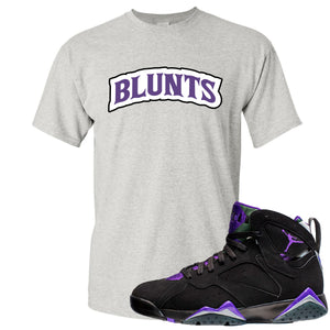 Air Jordan 7 Ray Allen Sneaker Hook Up Blunts Logo Gray T-Shirt