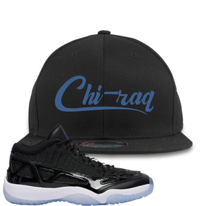 Air Jordan 11 Low IE Space Jam Sneaker Hook Up Chi-raq Black Snapback