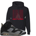 Air Jordan 6 PSG Sneaker Hook Up Ici C'est Paris Black Hoodie