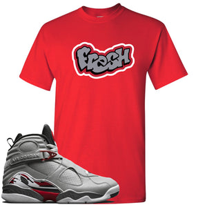 Air Jordan 8 Reflections of a Champion Sneaker Hook Up Fresh Logo Red T-Shirt