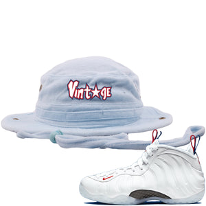 Nike WMNS Air Foamposite One USA Sneaker Hook Up Vintage Star Terry Light Blue Bucket Hat