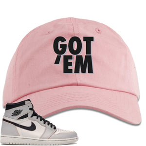 This pink and black hat will match great with your Nike SB x Air Jordan 1 Retro High OG Light Bone shoes