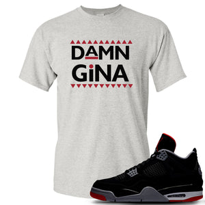 This grey and black t-shirt will match great with your Air Jordan 4 Bred shoes