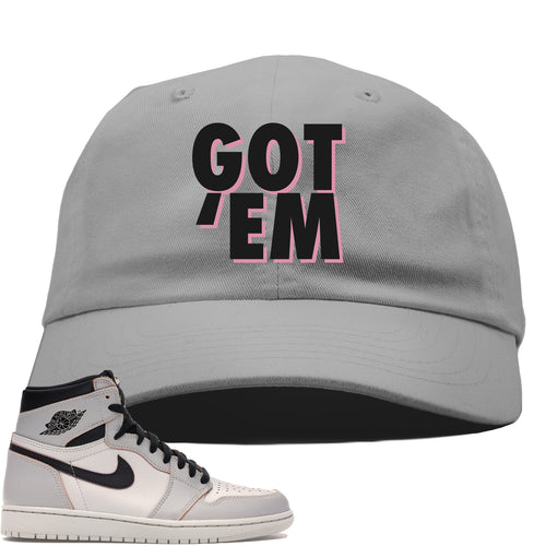 Nike SB x Air Jordan 1 Retro High OG Light Bone Sneaker Match Got Em Gray Dad Hat