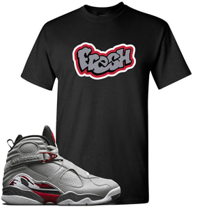 Air Jordan 8 Reflections of a Champion Sneaker Hook Up Fresh Logo Black T-Shirt