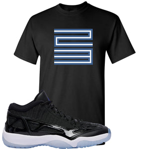 Air Jordan 11 Low IE Space Jam Sneaker Hook Up 23 Black T-Shirt