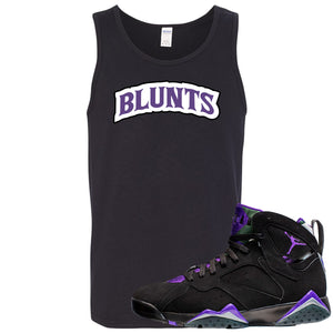 Air Jordan 7 Ray Allen Sneaker Hook Up Blunts Logo Black Mens Tank Top