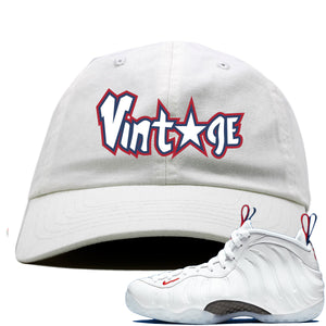 Nike WMNS Air Foamposite One USA Sneaker Hook Up Vintage Star White Dad Hat