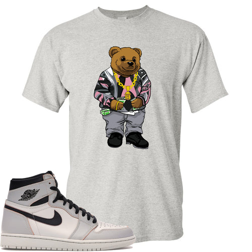 This white t-shirt will match great with you Nike SB x Air Jordan 1 Retro High OG Light Bone shoes