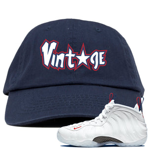 Nike WMNS Air Foamposite One USA Sneaker Hook Up Vintage Star Navy Dad Hat