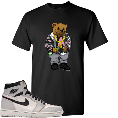 This black t-shirt will match great with your Nike SB x Air Jordan 1 Retro High OG Light Bone shoes