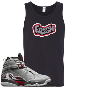 Air Jordan 8 Reflections of a Champion Sneaker Hook Up Fresh Logo Black Mens Tank Top