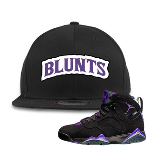 Air Jordan 7 Ray Allen Sneaker Hook Up Blunts Logo Black Snapback