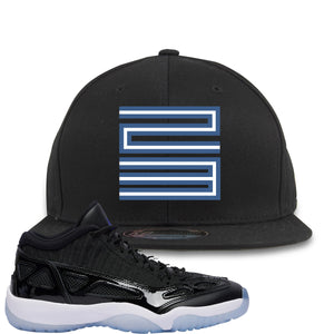 Air Jordan 11 Low IE Space Jam Sneaker Hook Up 23 Black Snapback