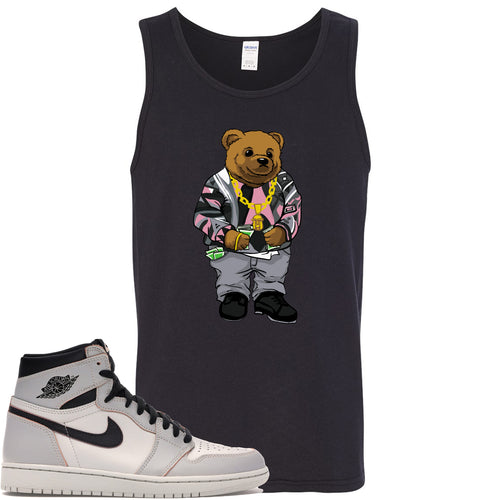 This black tanktop will match great with your Nike SB x Air Jordan 1 Retro High OG Light Bone shoes