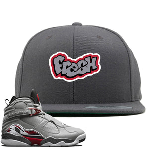 Air Jordan 8 Reflections of a Champion Sneaker Hook Up Fresh Logo Gray Snapback