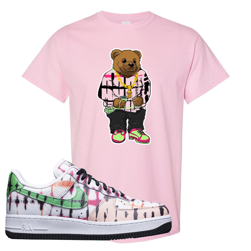 Air Force 1 Low Multi-Colored Tie-Dye T Shirt | Light Pink, Sweater Bear