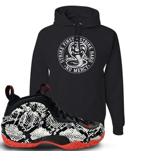 Foamposite One Snakeskin Sneaker Hook Up Cobra Snake Black Hoodie