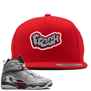 Air Jordan 8 Reflections of a Champion Sneaker Hook Up Fresh Logo Red Snapback