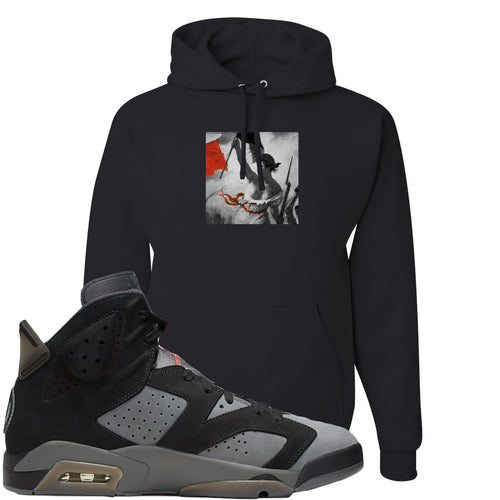 Air Jordan 6 PSG Sneaker Match Liberty Leading The People Black Hoodie