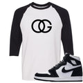 White and Black t-shirt to match the black and white Retro High Jordan 1 shoe