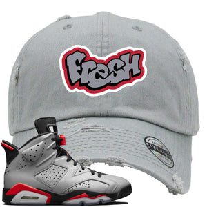Air Jordan 6 Reflections of a Champion Sneaker Hook Up Fresh Logo Gray Distressed Dad Hat