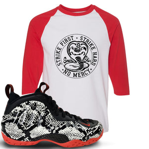 Foamposite One Snakeskin Sneaker Hook Up Cobra Snake Red and White Ragalan T-Shirt