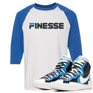 Air Max Sacai Blazer University Blue Sneaker Hook Up Finesse White and Blue Ragalan T-Shirt