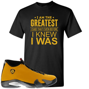 Reverse Ferrari 14s Sneaker Hook Up I Am The Greatest I Said That Even Before Black T-Shirt