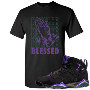 Air Jordan 7 Ray Allen Sneaker Hook Up Blessed Praying Hands Black T-Shirt