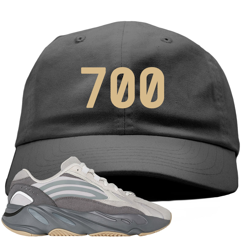 "Adidas Yeezy Boost 700 V2 Tephra Sneaker Hook Up ""700"" Dark Gray Dad Hat"