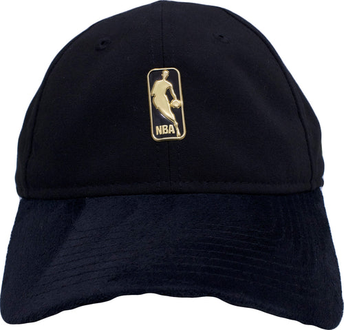 on the front of the nba on court dad hat is the gold nba logo
