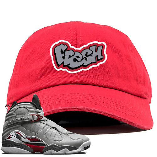 Air Jordan 8 Reflections of a Champion Sneaker Match Fresh Logo Red Dad Hat