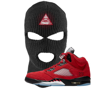 Air Jordan 5 Raging Bull Ski Mask | All Seeing Eye, Black