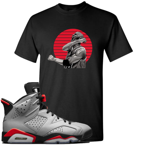 Air Jordan 6 Reflections of a Champion Sneaker Match Jordan Fist Pump Black T-Shirt