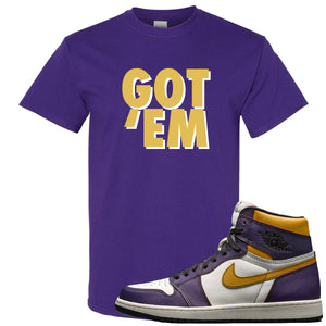Nike SB x Air Jordan 1 OG Court Purple Sneaker Hook Up Got Em Purple T-Shirt