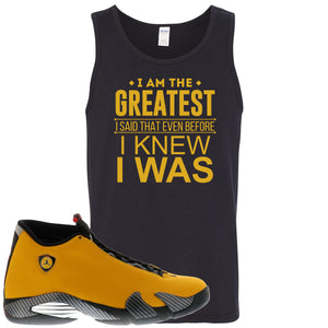 Reverse Ferrari 14s Sneaker Hook Up I Am The Greatest I Said That Even Before Black Mens Tank Top