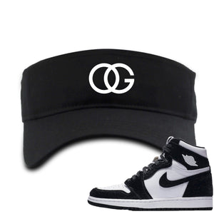 Black and white visor to match the black and white Retro High Jordan 1 shoe
