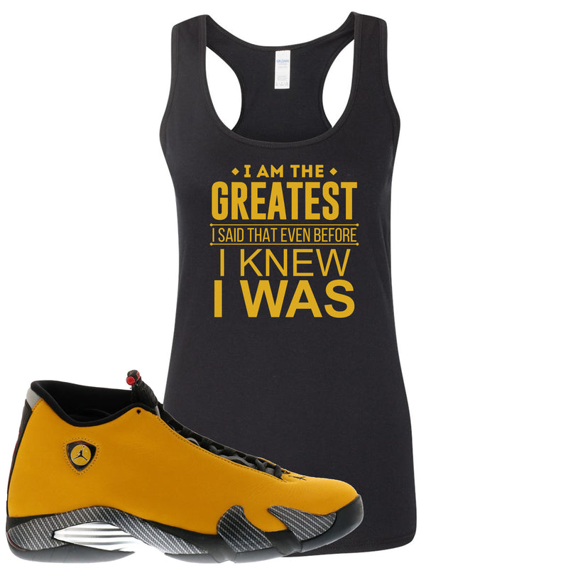 Reverse Ferrari 14s Sneaker Hook Up I Am The Greatest I Said That Even Before Black Womens Tank Top
