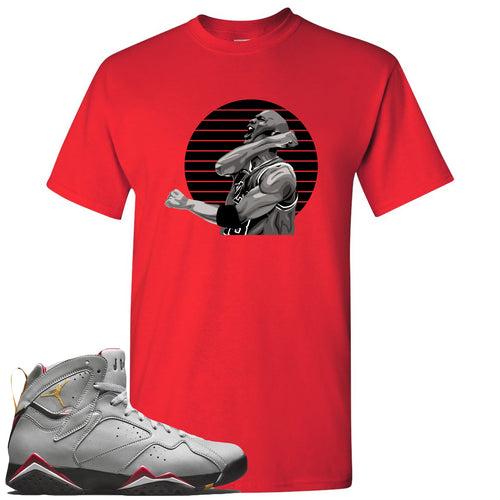 Air Jordan 7 Reflections of a Champion Sneaker Match Jordan Fist Pump Red T-Shirt