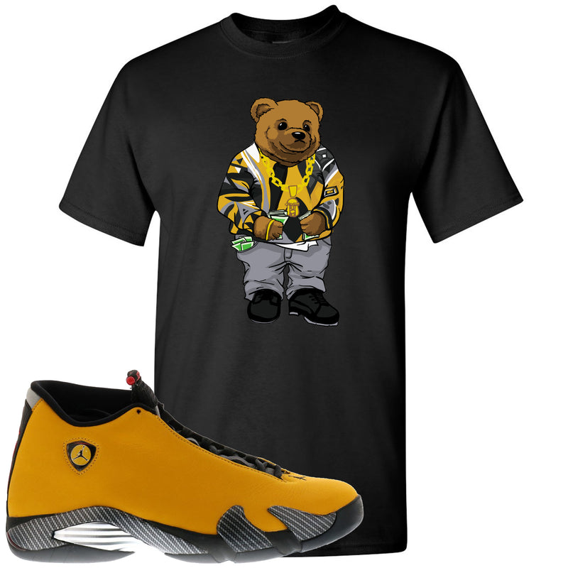 Reverse Ferrari 14s Sneaker Hook Up Biggie Bear Black T-Shirt