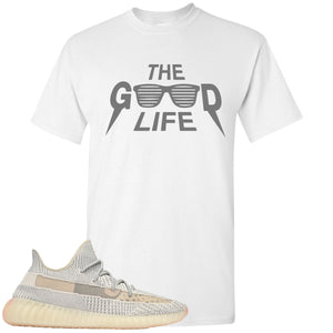 Adidas Yeezy Boost 350 v2 Lundmark Sneaker Hook Up The Good Life white T-Shirt