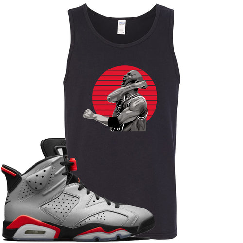 Air Jordan 6 Reflections of a Champion Sneaker Match Jordan Fist Pump Black Mens Tank Top