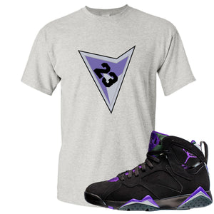 Air Jordan 7 Ray Allen Sneaker Hook Up Triangle Design with 23 Gray T-Shirt