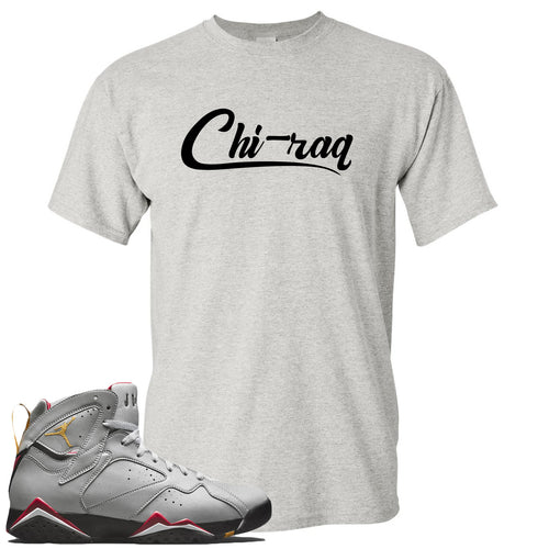 Air Jordan 7 Reflections of a Champion Sneaker Match Chi-raq Script Sports Gray T-Shirt