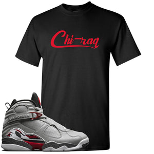 Air Jordan 8 Reflections of a Champion Sneaker Hook Up Chi-raq Script Black T-Shirt