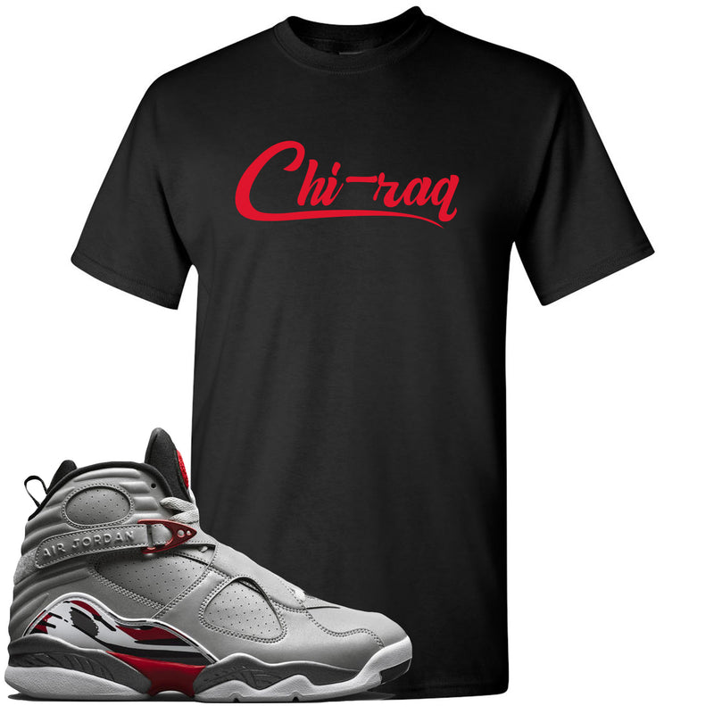 Air Jordan 8 Reflections of a Champion Sneaker Match Chi-raq Script Black T-Shirt