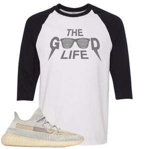 Adidas Yeezy Boost 350 v2 Lundmark Sneaker Hook Up The Good Life White and Black Raglan T-Shirt