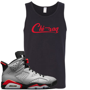Air Jordan 6 Reflections of a Champion Sneaker Hook Up Chi-raq Script Black Mens Tank Top
